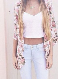 Crop Tops + High Wasted Jeans #BestFitEver