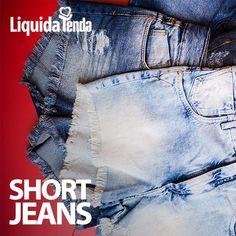 💛 🌞 😅 Look do dia: short jeans desfiado pra compor um look bem casual como pedem as altíssimas temperaturas desta estação. #LiquidaTendaVerão2017