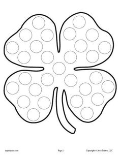 FREE Shamrock Do-A-Dot Printable! Set includes 4 more St. Patrick's Day coloring pages. These dot painting coloring pages are great for toddler age, preschool, and kindergarten. Get all 5 St. Patrick's Day Do-A-Dot worksheets here --> https://www.mpmschoolsupplies.com/ideas/7928/5-free-st-patricks-day-do-a-dot-printables/