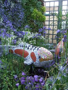 Mosaic Koi: Part of my show garden 'Paradox' in memory of our WW1 heros. | Flickr - Photo Sharing!