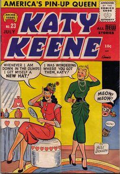 """""""Katy Keene comic book cover""""  I loved Katy Keene when I was a kid."""