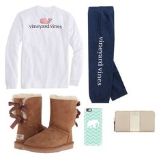"""Quick trip to cvs"" by prepallday ❤ liked on Polyvore featuring Vineyard Vines, UGG Australia, Casetify and Kate Spade"