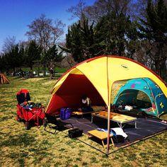 #秋ヶ瀬公園#デイキャンプ 今日の幕は#ビッグアグネス