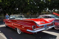 1959 Buick Electra convertible - red - rvl by Pat Durkin - Orange County, CA, via Flickr
