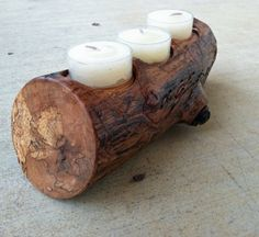 Candle Holder Beautiful Handmade Texas Oak by BcCreativeDesigns, $30.00  www.BcCreativeDesigns.Etsy.com  www.ccuniquedesigns.etsy.com