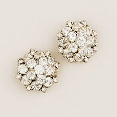 Crystal blossom earrings from JCrew $48