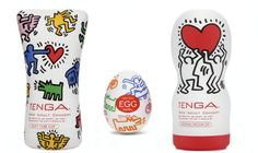 It's not often that you find squee-ful masturbation helpers, but these Keith Haring jobbies are adorable.