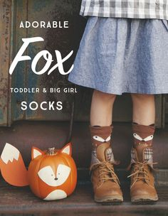 Darling, quality FOX socks for babies, toddlers and big girls.