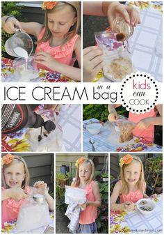 Ice Cream in a bag is a fun summer activity for the kids. The kids will have fun making homemade ice cream with this ice cream in a bag recipe. Ice Cream Set, Diy Ice Cream, Making Homemade Ice Cream, Cooking With Kids, Cooking Ideas, Children Cooking, Preschool Cooking, Summer Activities For Kids, Kitchens