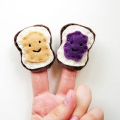 Felt Finger Puppets Peanut Butter and Jelly by PumpkinPyeBoutique, $15.00