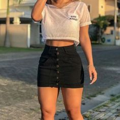college outfits for summer Casual Summer Outfits For Teens, Cute Teen Outfits, Casual Skirt Outfits, Simple Outfits, Spring Outfits, Trendy Outfits, Casual Dresses, Sports Bra Outfit, Cute Crop Tops