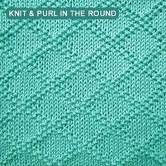 [knitting in the round] King Charles Brocade is a reversible stitch pattern that utilizes the texture of combining simple knit and purl stitches to create a textured diamond pattern. This is a very attractive stitch. According to Barbara Walker, this stitch was used in a vest (undershirt) for King Charles, which he wore on the day of his execution.