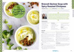 Broccoli Quinoa Soup with Spicy Roasted Chickpeas   by Lauren Caris  : LAUREN CARIS COOKS http://laurencariscooks.com/