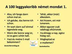 A 100 leggyakrabban elhangzó német mondat. 1. rész