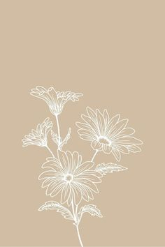 Floral minimalist home decor digital print for wall in 2021 | Floral wallpaper iphone, Minimalist wallpaper, Aesthetic iphone wallpaper