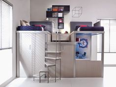 10 Space-Saving Bedroom Furniture Ideas by Tumidei Spa Space Saving Desk, Space Saving Bedroom, Space Saving Furniture, Space Saver, Kids Bedroom Furniture, Home Decor Bedroom, Furniture Plans, Furniture Stores, Furniture Design