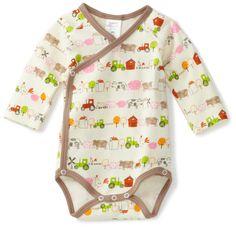 Zutano Baby-Girls Newborn Little Farm Organic Long Sleeve Body Wrap