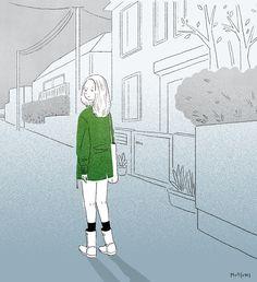 振り返る先には👻  #illustration #イラスト