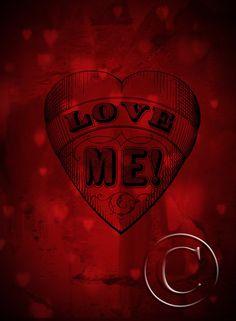 Tattooed Valentine Heart LOVE ME Old School Retro Design Valentine Card