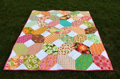 """Made with (42) 10"""" and (84) 4.5"""" squares; approx. finished size - 57"""" x 66""""  kelbysews: Gifts, Leftovers, Requests, and Progress"""