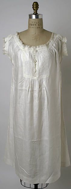 Chemise Date: 1860s Culture: American Medium: linen Dimensions: [no dimensions available] Credit Line: Gift of The Misses Faith and Delia Leavens, 1941 Accession Number: C.I.41.58.26