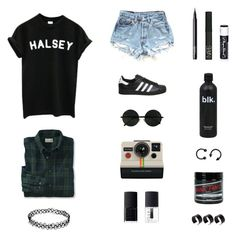 """New Americana - Halsey"" by musicsavedme1313 ❤ liked on Polyvore featuring adidas, NARS Cosmetics, Chapstick, Polaroid, ASOS and Manic Panic NYC"