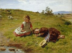 William McTaggart (scottish-1835-1910)- Spring 1864