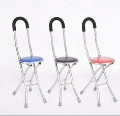 Folding Aluminium Lightweight Walking Stick with Seat Mobility tripod stool Portable Walking Cane Chair for Elderly. Walking Cane With Seat, Walking Canes, Back Posture Corrector, Mobility Aids, Stool, Chair, Walking Sticks, Stables, Tripod