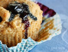 Moist and delicious low fat whole wheat muffins loaded with blueberries in every bite.   Isn't it dissatisfying when you buy a blueberry muffin thinking it's a healthy breakfast option and it's basically a sweet piece of cake with blueberries and lots of fat disguised as a muffin?  These muffins are low in calories and fat, high in fiber and good for you! Most of the fat has been replaced by applesauce which gives you a very moist muffin without all the added fat. You can make a half batch…