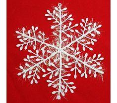 9'lu Kar Tanesi Yeni Yıl Süsü :: Burcu YAVUZ