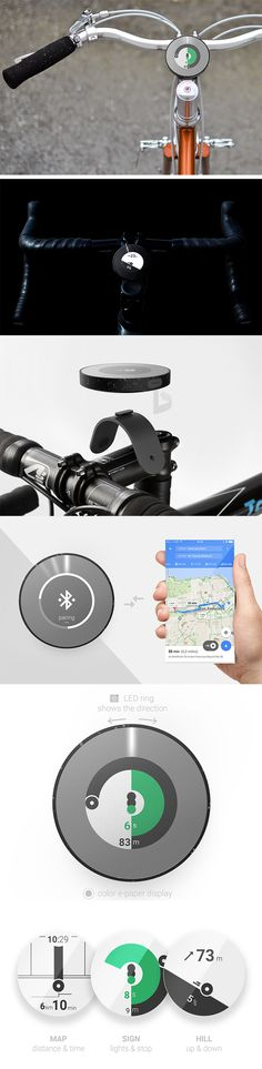 Orion is a commuter must-have. Easily installed on your handlebars, it provides simple directions and navigation that helps you find the most efficient bicycle route each time. With real-time traffic light information and uphill/downhill distance indicators, you'll know exactly where to go with the straightforward indicators and information on the screen.