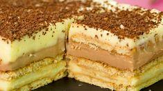 Cel mai original desert fără coacere din toate pe care le-am întâlnit - . French Desserts, No Cook Desserts, Easy Desserts, No Bake Cookies, Cake Cookies, Cake Recipes, Dessert Recipes, Good Food, Yummy Food