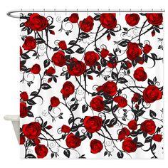 Roses Floral Shower Curtain