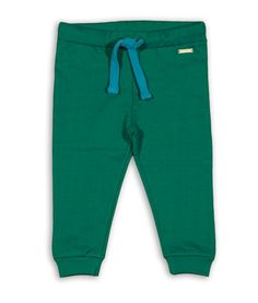 Green organic cotton sweatpants for kids. Warm and fuzzy :)