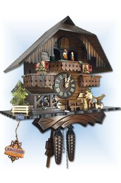Trenkle | 442 QM | 9 inch | Happy Forest | Chalet | cuckoo clock |