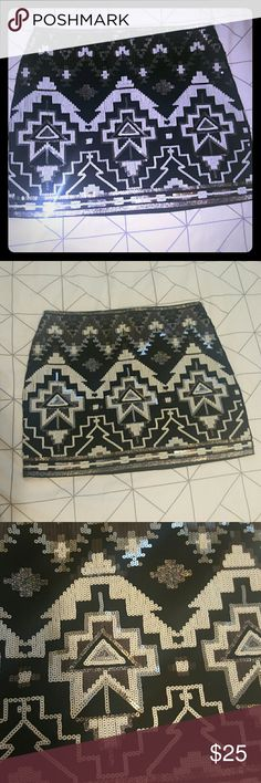 NWT Express Aztec Sparkle Skirt New with tags originally 54.95 Express Aztec mini sparkly skirt Express Skirts Mini
