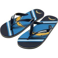 San Diego Chargers Big Logo Flip Flops - Navy Blue