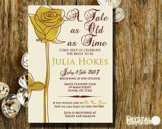 Fairytale Beauty And The Beast Bridal Shower Invitation
