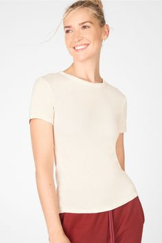 Tinsley Short-Sleeve Tee - Title Tag Default Offer! Short Sleeve Tee, Coffee Shop, Must Haves, Crew Neck, Earth, Gym, Shape, Tees, Fitness