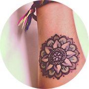 """Small Mandala Tattoo Design: On Forearm Middle-Mandalas are most often used in meditation as a way of connecting to the """"inner self"""""""