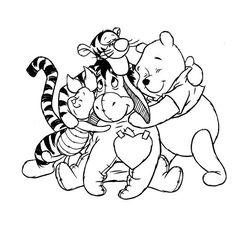 Les 77 Meilleures Images Du Tableau Coloriages Winnie L Ourson Sur