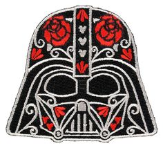 Amazon.com: Star Wars Darth Vader Floral Helmet Iron-On Patch: Clothing
