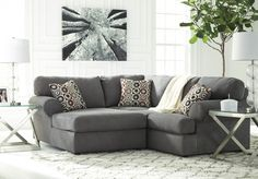 Jayceon - Steel 2 Pc LAF Corner Chaise Sectional | 64902/16/67 | Sectionals | Carey's Furniture
