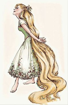Rapunzel by Claire Keane Film Disney, Disney Princess Art, Disney Concept Art, Disney Kunst, Disney Tangled, Disney Fan Art, Disney Magic, Tangled Concept Art, Tangled Movie