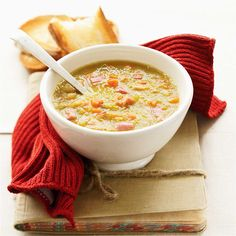 Are you looking for a delicious winter warmer soup? Find the recipe to make pea and ham soup using fresh thyme leaves and smoked bacon hock at Woolworths. Baby Food Recipes, Soup Recipes, Cooking Recipes, Healthy Recipes, Recipies, Pea And Ham Soup, Smoked Bacon, Entrees, Food To Make