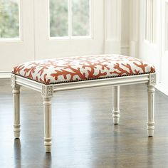 Our Coral Needlepoint Bench introduces fresh pattern and color to an entry, bedroom or anywhere you need extra pull-up seating. Shop Ballard Designs!