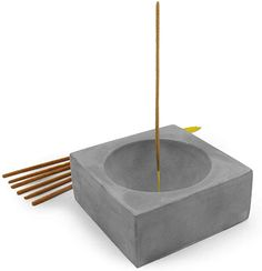Slice of Goodness Grey Cement Incense Holder Square - Modern Minimal Design with Upright Burner and Bowl Shape Interior - Incense Sticks Not Included - for Incense Sticks Candle Magic, Incense Holder, Kitchen Witch, Incense Sticks, Incense Burner, Travel Design, Minimal Design, Wiccan Spells, Magic Spells