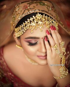"When I see you, I forget the world."" . . Photo @kulwantsm Jewellery @anaghaartsnjewels . . . #indianbridalmakeup #bridalmakeover #indiandulhan #indianweddingmakeup #weddingmakeover #makeupartistindia #bridalmakeupartistindia #bridalphotos Wedding Makeover, Indian Wedding Makeup, When I See You, Makeup Yourself, Forget, Jewellery, Bride, Fashion, Moda"