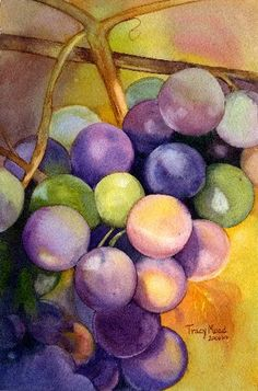 Grapes. Tracy Moad watercolors.