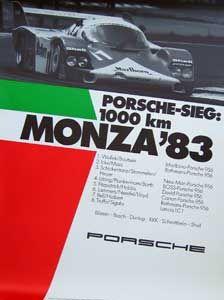 Porsche race poster MONZA 1983